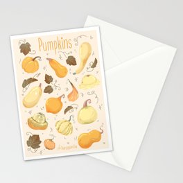 Pumpkins pattern Stationery Cards