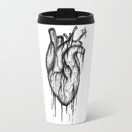 Bleeding Heart - A3 Ink illustration Travel Mug