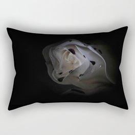 White Wave Rose Rectangular Pillow
