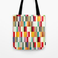 stripes Tote Bags featuring Stripes by Danny Ivan