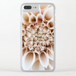Cafe Au Lait Dahlia Clear iPhone Case