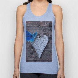Heart & butterfly | coeur et papillon Unisex Tank Top