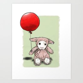 My first balloon Art Print