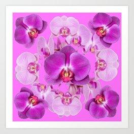 Ornate Pink & Purple  Butterfly Orchids Art Print