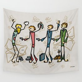 Businessman Wall Tapestry
