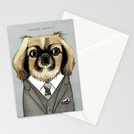 Mad Men Dogs: Pekingese Campbell Stationery Cards