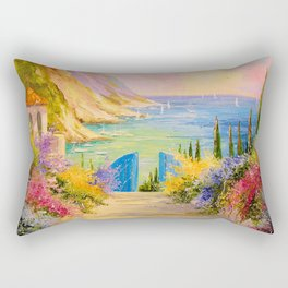 Road to the sea Rectangular Pillow