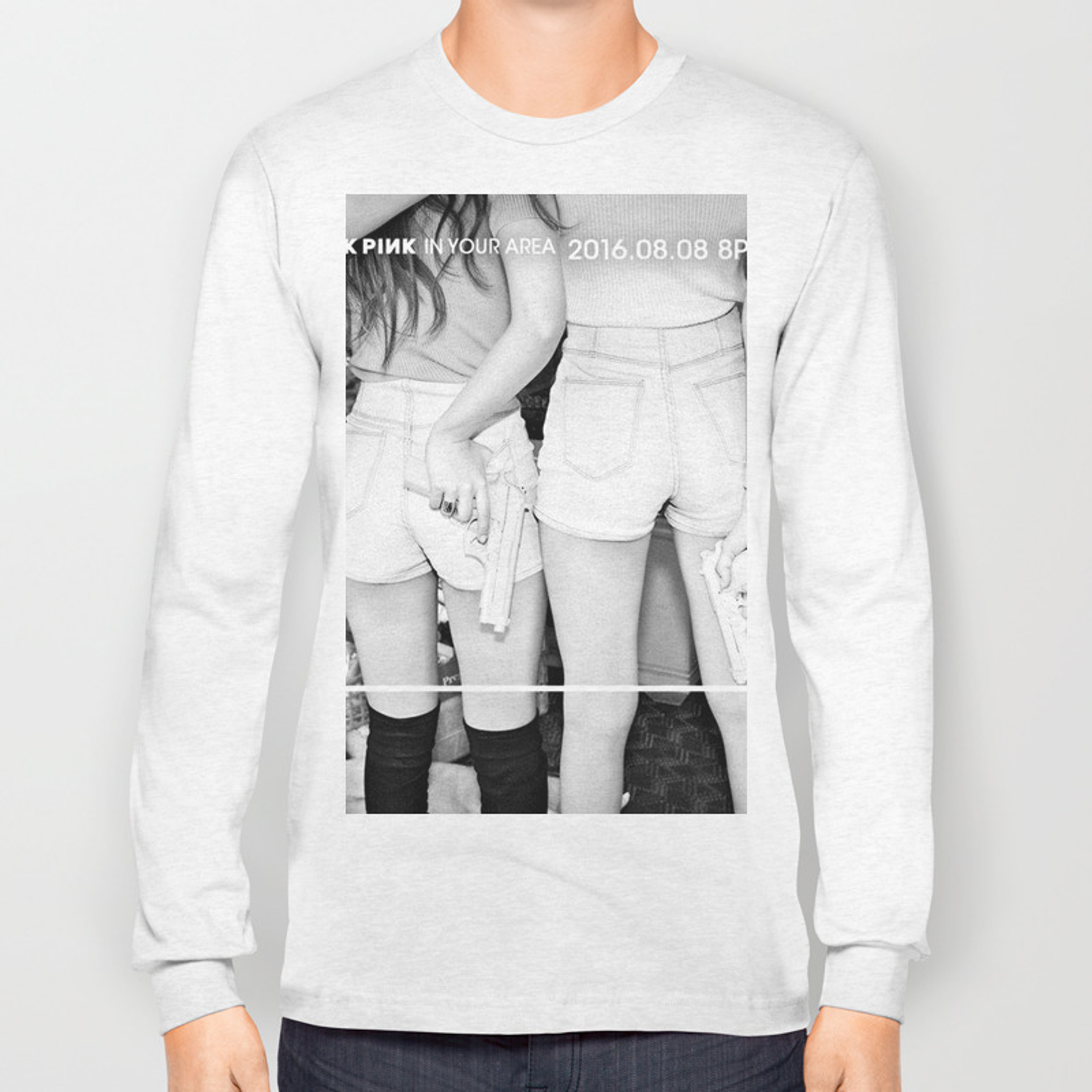 a24ce62f blackpink Long Sleeve T-shirt by creepybutcute | Society6