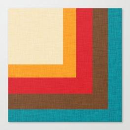 Abstract Mod Cube Beige #midcenturymodern Canvas Print
