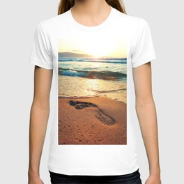 footprints T-shirt