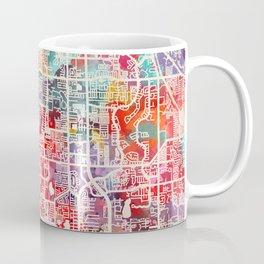 Dunedin map Florida FL Coffee Mug