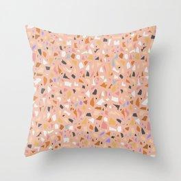 Terrazzo arlecchino Throw Pillow