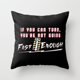 Drag Racing Gift For Fast Car Racing Fans Throw Pillow