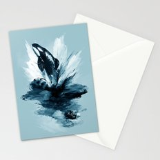 deep blue rising Stationery Cards