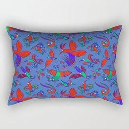 Pattern with Firebirds (on blue background) Rectangular Pillow