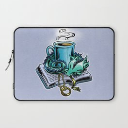 Snuggly dragon and a coffee cup Laptop Sleeve