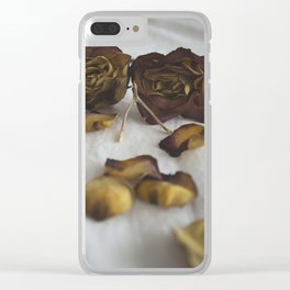 Wishbone and Roses Clear iPhone Case