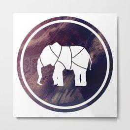 Elephant Illustration Metal Print