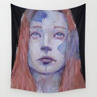 redhead Wall Tapestries featuring Redhead by SirScm