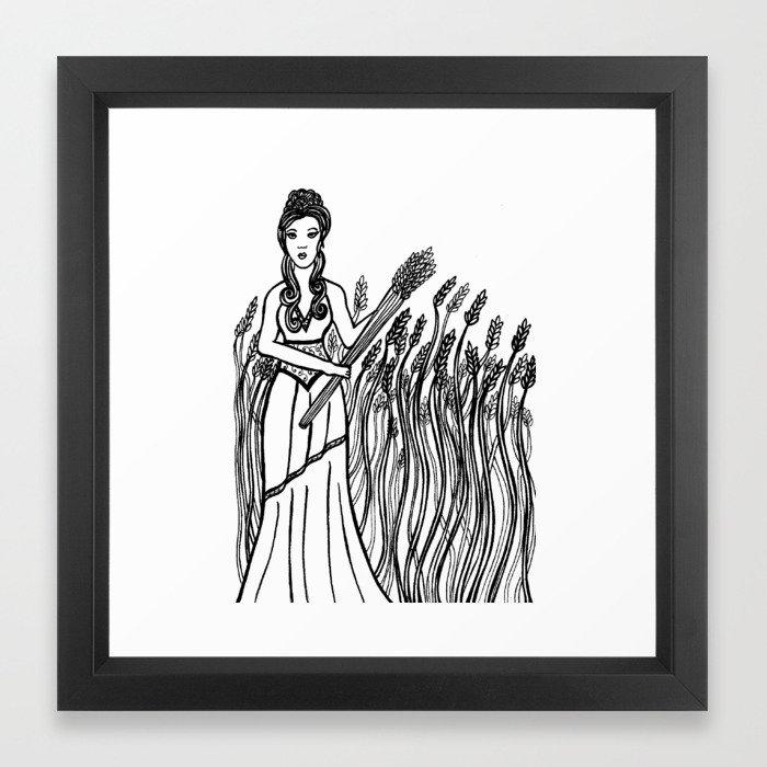 Demeter Greek Mythology Goddess Of The Harvest Framed Art Print By