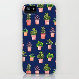 Indoor Plant Collection Blue iPhone Case