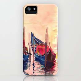 Gondolas parking Venice iPhone Case