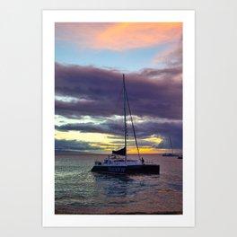 Kaanapali Beach Sunset Art Print
