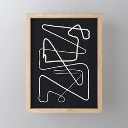 Movements Black Framed Mini Art Print
