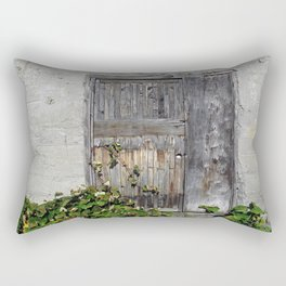 Dilapidated Door Rectangular Pillow