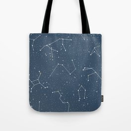 Star night constellations Tote Bag