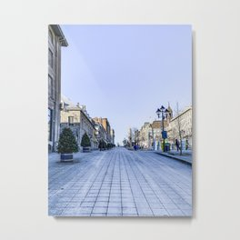 Cold Day in Vieux Montreal Old Town Metal Print