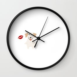I Kissed A Labrador Retriever And I Liked It Cute Dog Kiss Gift Idea Wall Clock