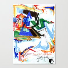 Swatch Top Doodles Canvas Print