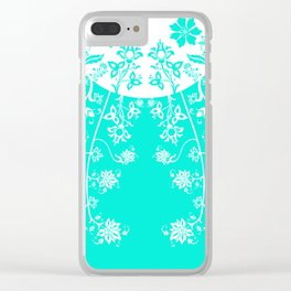 floral ornaments pattern wbm30 Clear iPhone Case