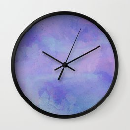 Watercolour Galaxy - Purple Speckled Sky Wall Clock