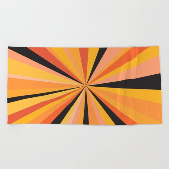 Zone Orange Beach Towel