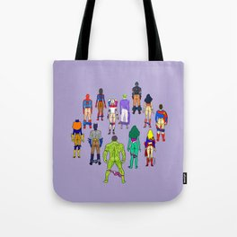 Superhero Butts - Power Couple on Violet Tote Bag