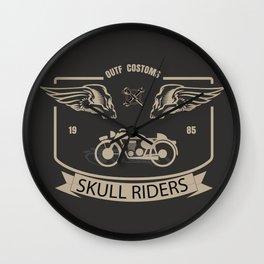 Skull Riders Costoms Wall Clock