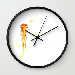 Tangerine Squishy Wall Clock