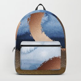 Inspiration: Gold, Copper And Blue Backpack
