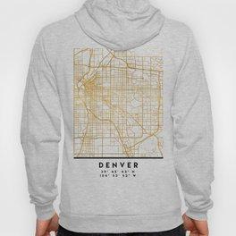 DENVER COLORADO CITY STREET MAP ART Hoody