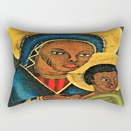 Agape, Virgin Mary ,Baby Jesus Rectangular Pillow