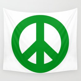 Green Peace Sign, Power of Peace, Power of Love, Social Justice Warrior, Super Sharp PNG Wall Tapestry