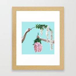 1992 Floral Episodes (Aqua) Framed Art Print