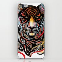 tiger iPhone & iPod Skins featuring Tiger by Felicia Atanasiu