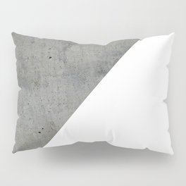 Concrete Vs White Pillow Sham