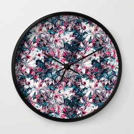 Seamless Floral And Paisley Pattern Wall Clock
