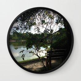 Lake Side Bench Wall Clock