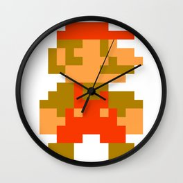 Pixel Mario Wall Clock