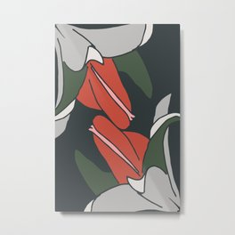 Bellflowers in Colors Metal Print